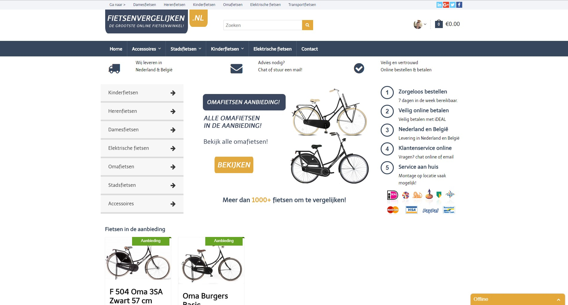 Marketeers fietsenvergelijken